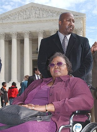 Mayola Williams photographed in 2006 leaving the US Supreme Court   (AP Photo/Dennis Cook, File)