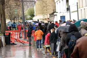 Queuing in the Rain is no fun